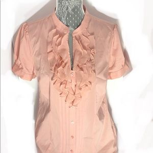 NWT Limited Essential Ruffle Button down blouse
